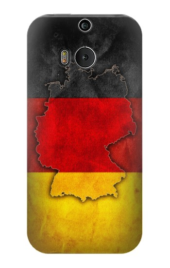 Printed Germany Flag Map HTC One M8 Case