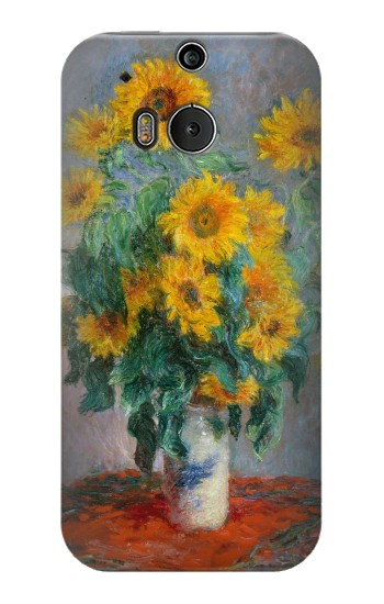 Printed Claude Monet Bouquet of Sunflowers HTC One M8 Case