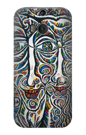 Printed Colorful Faces Berlin Wall HTC One M8 Case