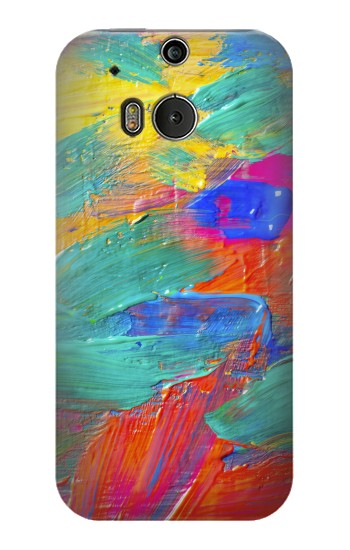 Printed Brush Stroke Painting HTC One M8 Case
