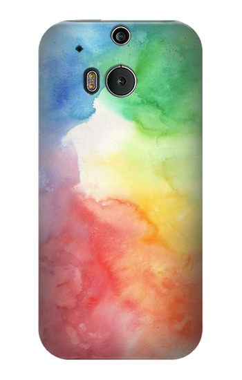 Printed Colorful Watercolor HTC One M8 Case