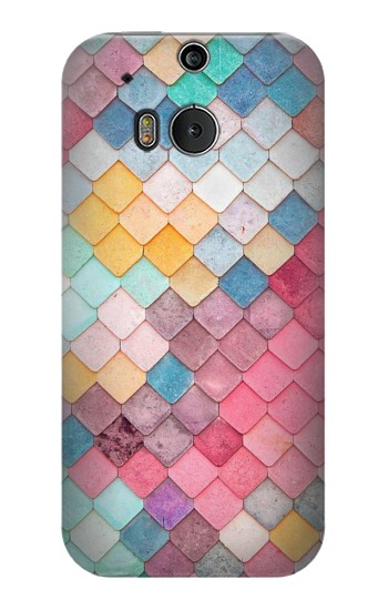 Printed Candy Minimal Pastel Colors HTC One M8 Case