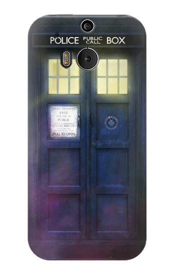 Printed Tardis Phone Box HTC One M8 Case