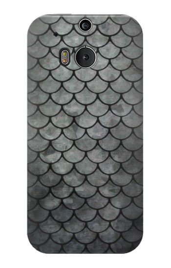 Printed Silver Fish Scale HTC One M8 Case
