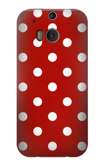 Printed Red Polka Dots HTC One M8 Case