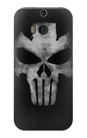 Printed Crossbones Skull Mask HTC One M8 Case