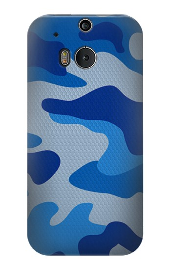 Printed Army Blue Camouflage HTC One M8 Case