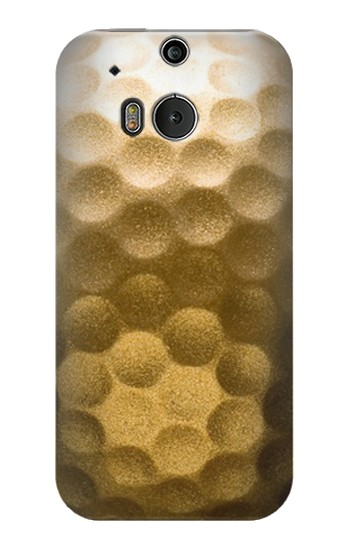 Printed Gold Golf Ball HTC One M8 Case