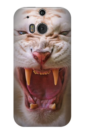 Printed White Saber Toothed Tiger HTC One M8 Case
