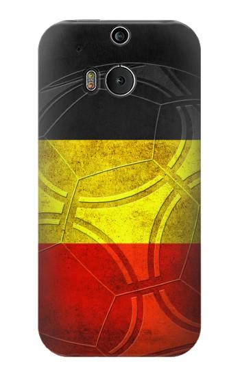 Printed Belgium Football Flag HTC One M8 Case