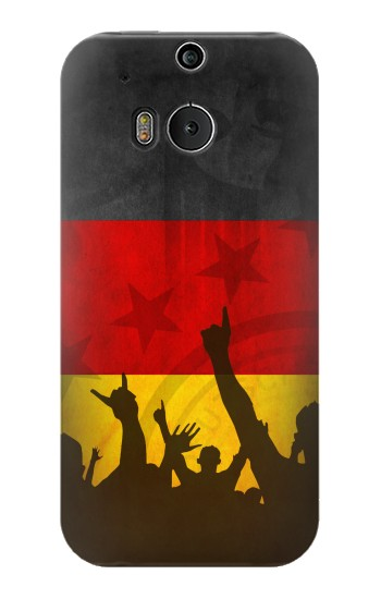 Printed Germany Football Flag HTC One M8 Case