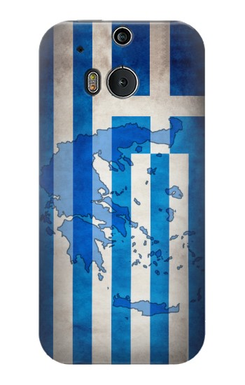 Printed Greece Map Flag HTC One M8 Case