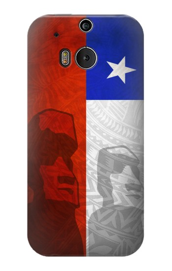 Printed Chile Polynesian Flag HTC One M8 Case