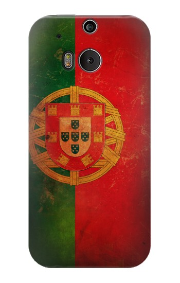 Printed Vintage Portugal Flag HTC One M8 Case