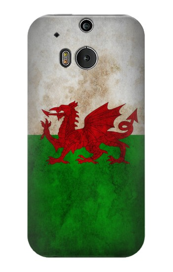 Printed Wales Red Dragon Flag HTC One M8 Case