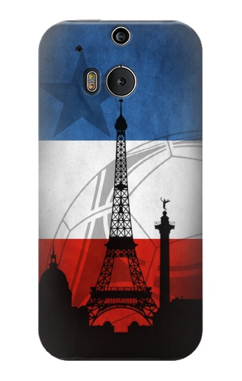 Printed France Football Flag HTC One M8 Case
