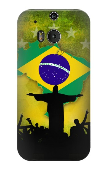 Printed Brazil Football Flag HTC One M8 Case