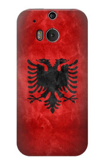 Printed Albania Red Flag HTC One M8 Case