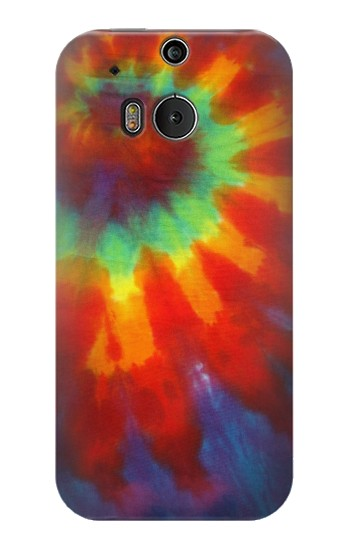 Printed Colorful Tie Dye Fabric Texture HTC One M8 Case