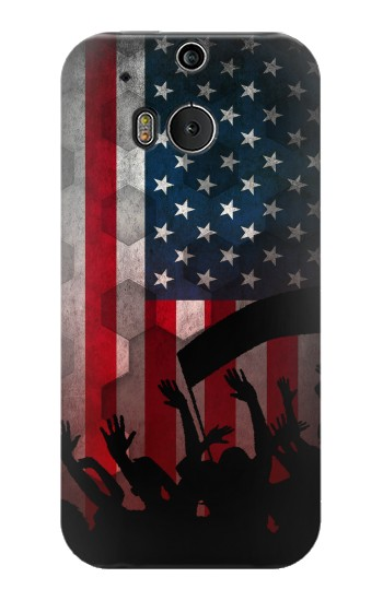 Printed USA American Football Flag HTC One M8 Case