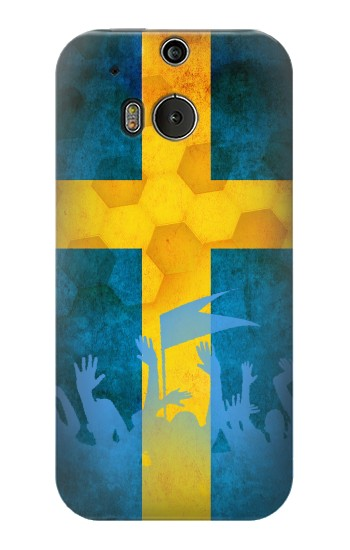 Printed Sweden Football Flag HTC One M8 Case