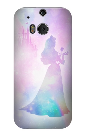 Printed Princess Pastel Silhouette HTC One M8 Case