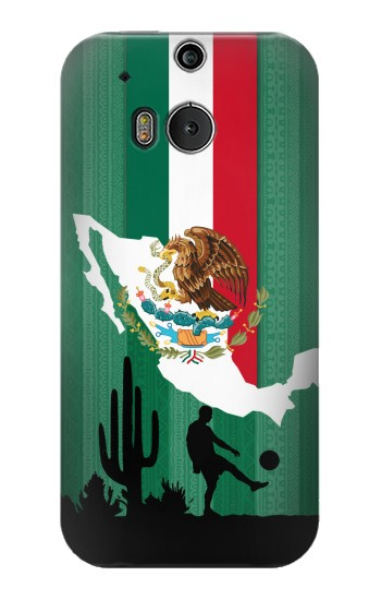 Printed Mexico Football Flag HTC One M8 Case