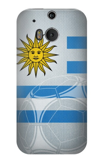Printed Uruguay Football Flag HTC One M8 Case