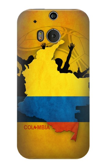 Printed Colombia Football Flag HTC One M8 Case