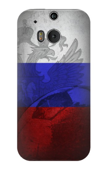 Printed Russia Football Flag HTC One M8 Case