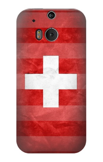 Printed Switzerland Football Flag HTC One M8 Case