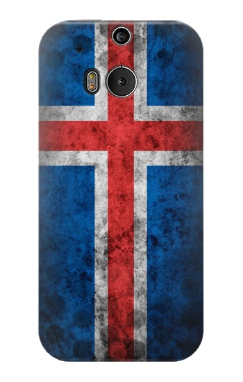 Printed Iceland Football Flag HTC One M8 Case