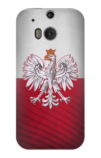 Printed Poland Football Flag HTC One M8 Case