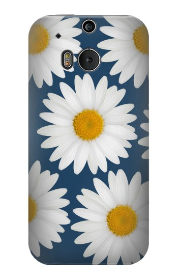 Printed Daisy Blue HTC One M8 Case