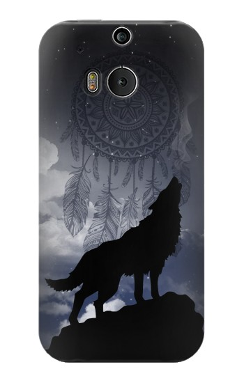Printed Dream Catcher Wolf Howling HTC One M8 Case
