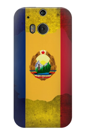 Printed Romania Flag HTC One M8 Case