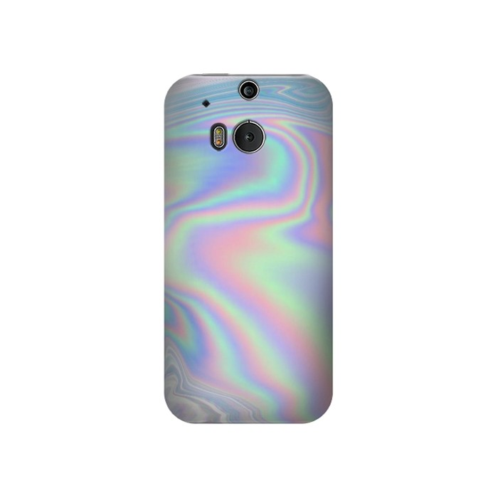 Printed Pastel Holographic Photo Printed HTC One M8 Case