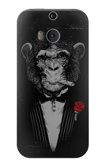 Printed Funny Monkey God Father HTC One M8 Case