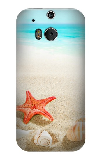 Printed Sea Shells Starfish Beach HTC One M8 Case