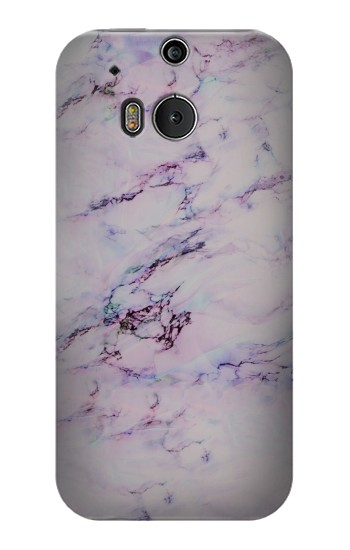 Printed Seamless Pink Marble HTC One M8 Case
