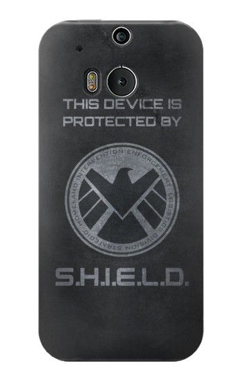 Printed This Device is Protected by Shield HTC One M8 Case