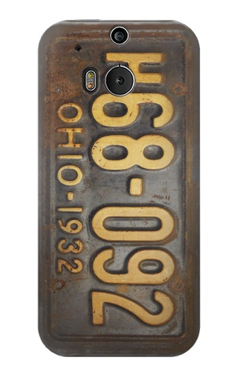 Printed Vintage Car License Plate HTC One M8 Case