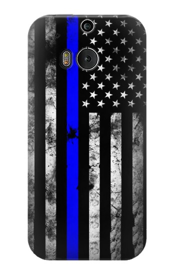 Printed Thin Blue Line USA HTC One M8 Case