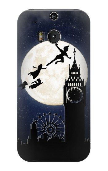 Printed Peter Pan Fly Fullmoon Night HTC One M8 Case
