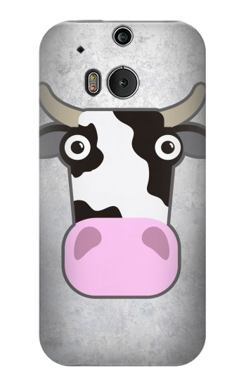 Printed Cow Cartoon HTC One M8 Case