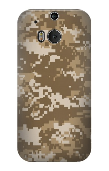 Printed Army Camo Tan HTC One M8 Case