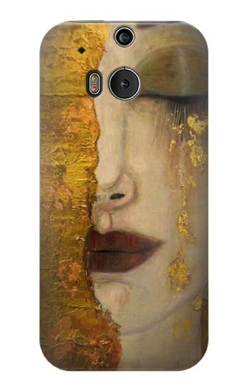 Printed Gustav Klimt Golden Tears HTC One M8 Case
