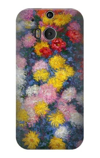 Printed Claude Monet Chrysanthemums HTC One M8 Case