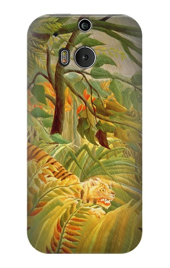 Printed Henri Rousseau Tiger in a Tropical Storm HTC One M8 Case
