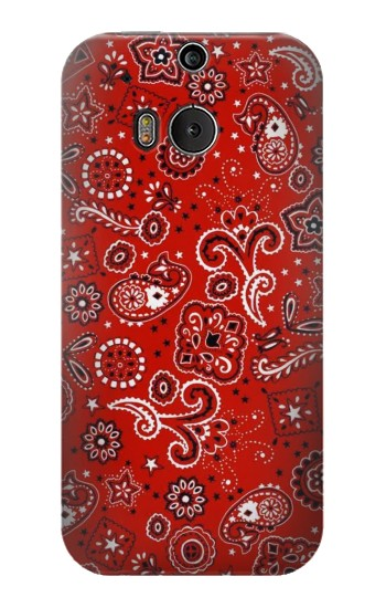 Printed Red Bandana HTC One M8 Case